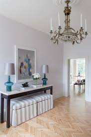 Gold Entry Table Console Table Decoration Entry Transitional With Gold Chandelier