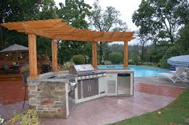 backyard kitchen ideas outdoor kitchen and pool ideas pertaining to outdoor kitchen with