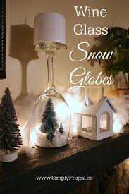 wine glass snow globes diy wine glass snow globes