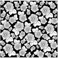 imagenes blancas en fondo negro flores blancas de diferentes tamaños en un fondo negro vector de