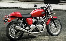 new triumph thruxton r custom photographed at the milan bike show