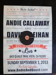 dani u0027s details concert poster wedding invitation