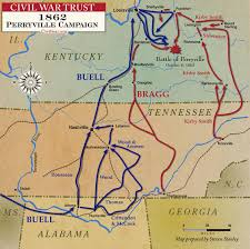 Richmond Ky Map Perryville Campaign 1862 Civil War Trust