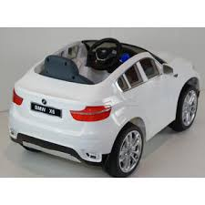 bmw battery car for electric ride on car ride on car bmw x6 white with radio