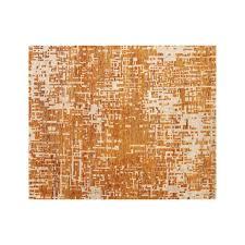 celosia orange hand knotted 8 u0027x10 u0027 rug crate and barrel
