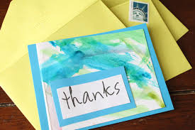 do it yourself divas diy a thank you card out of kid