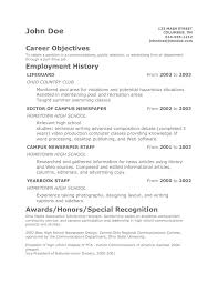 Sample Resume For No Work Experience by 65 Part Time Job Resume Objective Objective Resume