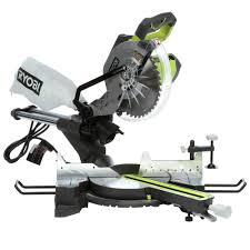 home depot ryobi black friday ryobi 15 amp 10 in sliding miter saw with laser tss102l the