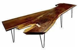 Slab Coffee Table Salvaged Walnut Slab Coffee Table Handmade