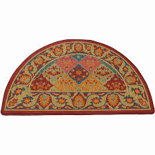 Round Burgundy Rug Hearth Rug Half Round Burgundy And Blue Hr301
