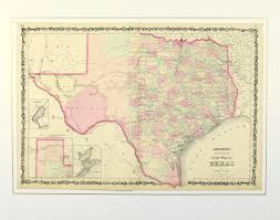 State Of Texas Map Map Of Texas 1862 Original Art Antique Maps U0026 Prints