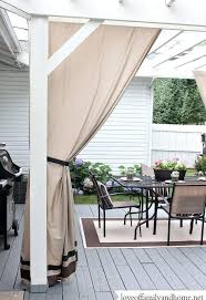 Curtains Made From Bed Sheets Back Deck Makeover Pergola Reveal Hometalk