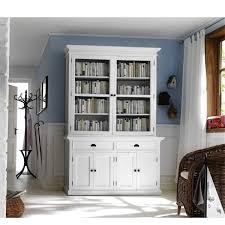 bookcase with glass doors ebay shabby chic white wooden bookcase