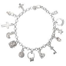 chain bracelet with charms images 925 silver plated crystal charms bracelet metal chain bracelet jpg