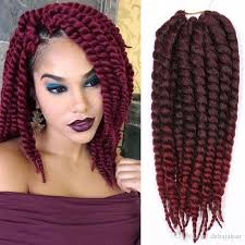 Hairstyles With Xpression Braids | xpression ombre synthetic braiding hair extensions burgundy faux