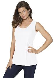 new roamans women u0027s plus size scoop neck rib tank asianaroma ee