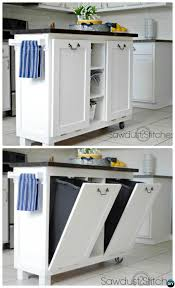 kitchen island with trash bin diy trash can cabinet projects