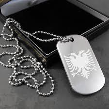 Photo Engraved Dog Tags Uk Gift Shop Albanian Eagle Flag Engraved Dog Tag