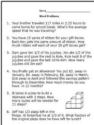 6th grade math word problems