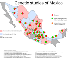 Jalisco Mexico Map Map Of Genetic Admixture In Mexico 1480x1401 Mapporn