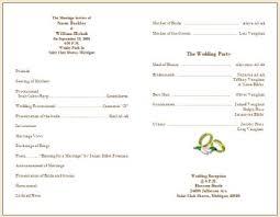 wedding ceremony program template free collection wedding program wording exles pictures wedding ideas