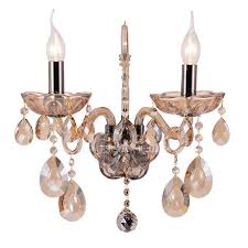 Vintage Crystal Sconces German Crystal Glass Sconces From Kinkeldey S Set Of For Home