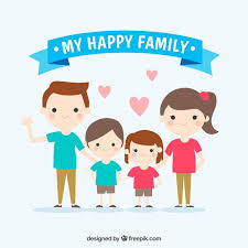 beautiful of smiling family vector free