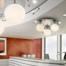 Wohnzimmer Deckenbeleuchtung Modern Deckenleuchte Glas Deckenlampe Beleuchtung Wohnzimmer Lampe