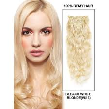 white hair extensions wholesale white 613 wave deluxe clip in