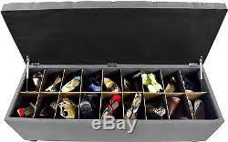 ottoman shoe rack storage bench furniture bottom compartment
