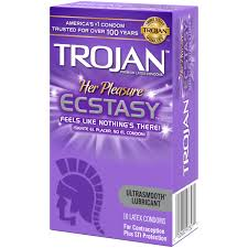 trojan her pleasure ecstasy latex condoms 10 ct walmart com