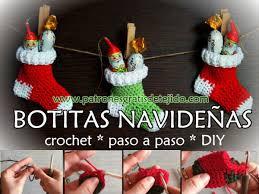 bufandas mis tejidos tejer en navidad manualidades navidenas bufanda cómo tejer botitas de navidad paso a paso diy crochet y dos
