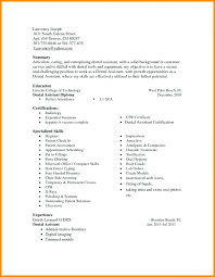 dental assistant resume template brilliant orthodontist resume in dental assistant resume