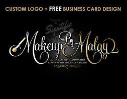 Makeup Business Cards Designs Makeup Artist Logo Free Business Card Design Custom Makeup