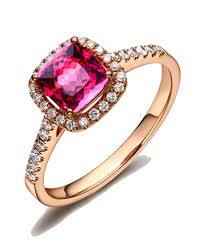 engagement ruby rings images 1 50 carat cushion cut ruby and diamond engagement ring rose gold jpg