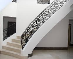 bespoke scrollwork metal balustrade fine iron staircases
