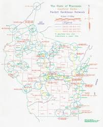 State Of Wisconsin Map by The Wisconsin Amateur Packet Radio Association