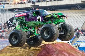 bigfoot monster truck driver barcelona spain november 12 charlie pauken driving the grave