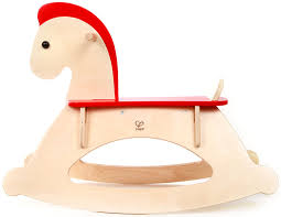 amazon com hape rock and ride kid u0027s wooden rocking horse toys