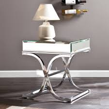 Upton Home Coffee Table Upton Home Annabelle Chrome Mirrored Side End Table Overstock