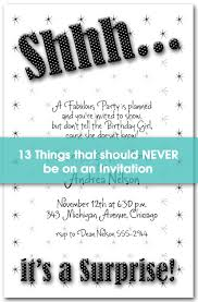 Things To Put On A by 13 Things To Never Put On An Invitation