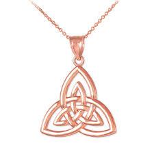 knot pendant necklace images Rose gold triquetra trinity knot pendant jpg
