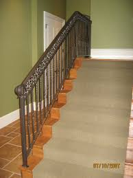 decor u0026 tips cool iron stair railing and staircase carpet runner