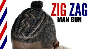 black male haircuts with zig zags man bun braid styles zig zag cornrows youtube