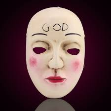 creepy mask the purge mask god cross scary masks party prop