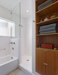 bathroom glass bowl sink feat dark brown wood narrow depth
