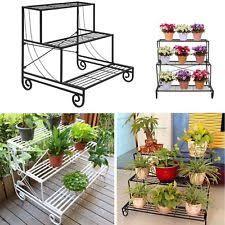 garden flower pot stand 3 tier wooden shelves fir ladder planter