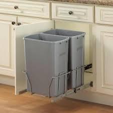 garbage can under the sink kitchen in cabinet under sink mount trash can garbage 2 bins sliding