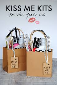 new years party kits me kits for new year s fill a bag or basket with