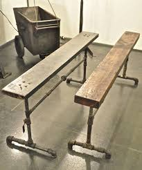 galvanized pipe table legs for potted plants to sit right under the window sills the